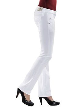 HERRLICHER Damen Jeans PITCH SLIM 5303 SN560 100 white weiß Drill Stretch – Bild 3