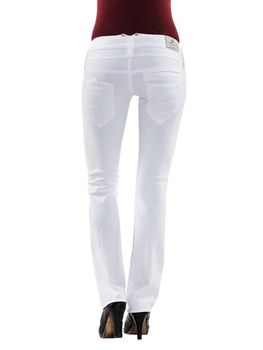 HERRLICHER Damen Jeans PITCH SLIM 5303 SN560 100 white weiß Drill Stretch – Bild 4
