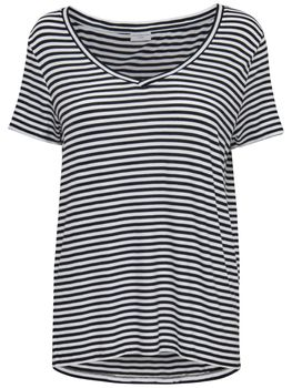 JDY by ONLY Damen Oversize T-Shirt jdySPIRIT S/S STRIPE V-NECK TOP Streifen – Bild 3