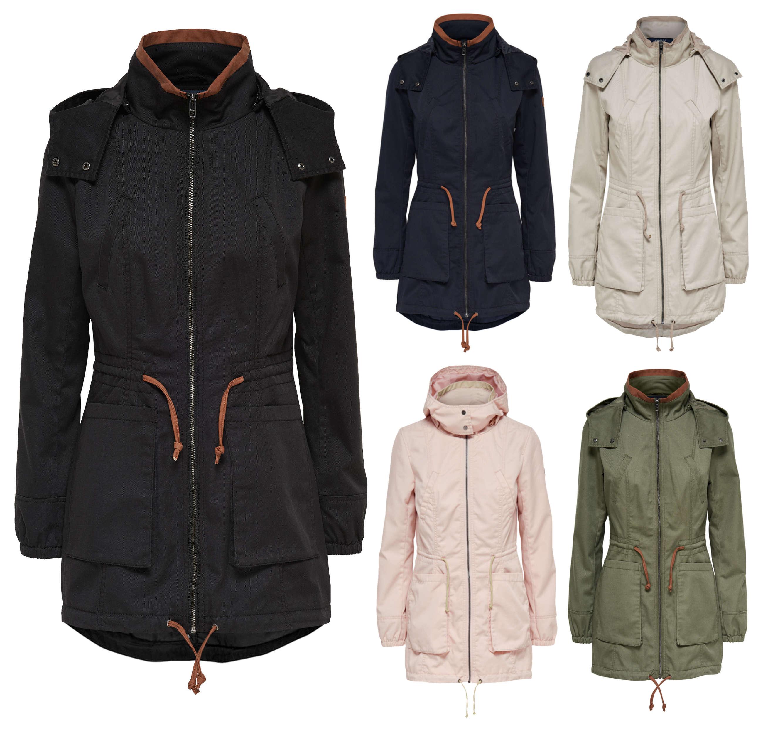 only damen bergangs jacke mantel onlolga parka jacket. Black Bedroom Furniture Sets. Home Design Ideas