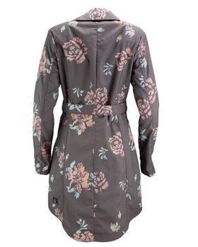 KHUJO Damen Übergangs-Jacke Mantel Trenchcoat POPPY (ZB) Blumen-Muster – Bild 3