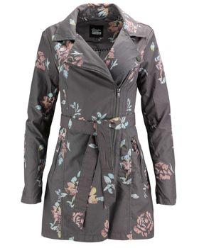 KHUJO Damen Übergangs-Jacke Mantel Trenchcoat POPPY (ZB) Blumen-Muster 001