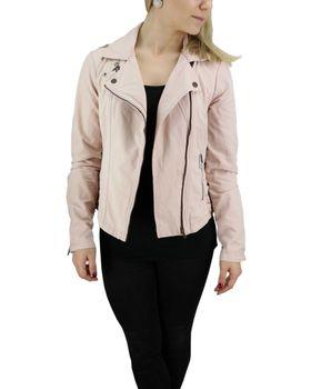 KHUJO Damen Übergangs-Jacke Bikerjacke SOLIDA Jacket Frühling Stickerei rosa – Bild 4