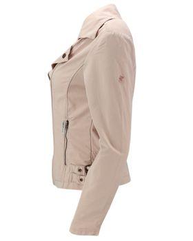 KHUJO Damen Übergangs-Jacke Bikerjacke SOLIDA Jacket Frühling Stickerei rosa – Bild 2