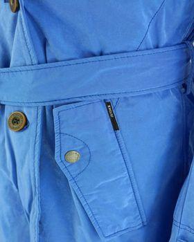 KHUJO Damen Übergangs-Jacke Mantel Trenchcoat PARANA blau türkis Kapuze – Bild 5