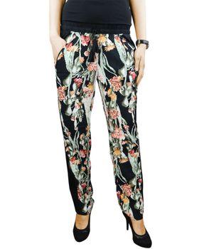 KHUJO Damen Hose SALOMEA Stoffhose Printhose Blumen Aztek Muster Sommer – Bild 6
