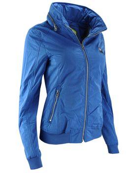 KHUJO Damen Übergangs-Jacke ABIQUA Jacket Kapuze Frühling Sommer blau – Bild 2