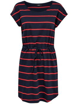 ONLY Damen Kleid onlMAY SS DRESS NOOS kurzarm Sommerkleid Shirtkleid Streifen – Bild 2