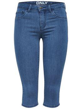 ONLY Damen 3/4 Capri Jeans Hose onlRAIN REG SK KNICKERS PNT CRY5055 NOOS mittelblau