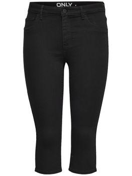 ONLY Damen 3/4 Capri Jeans Hose onlRAIN REG SK KNICKERS PNT CRY6060 NOOS schwarz