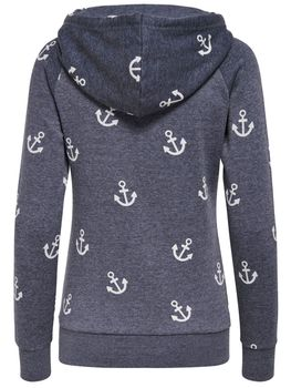 ONLY Damen Sweatshirt Pullover LISA NEW ANCHOR SWEAT Anker Hoodie Kapuze – Bild 3