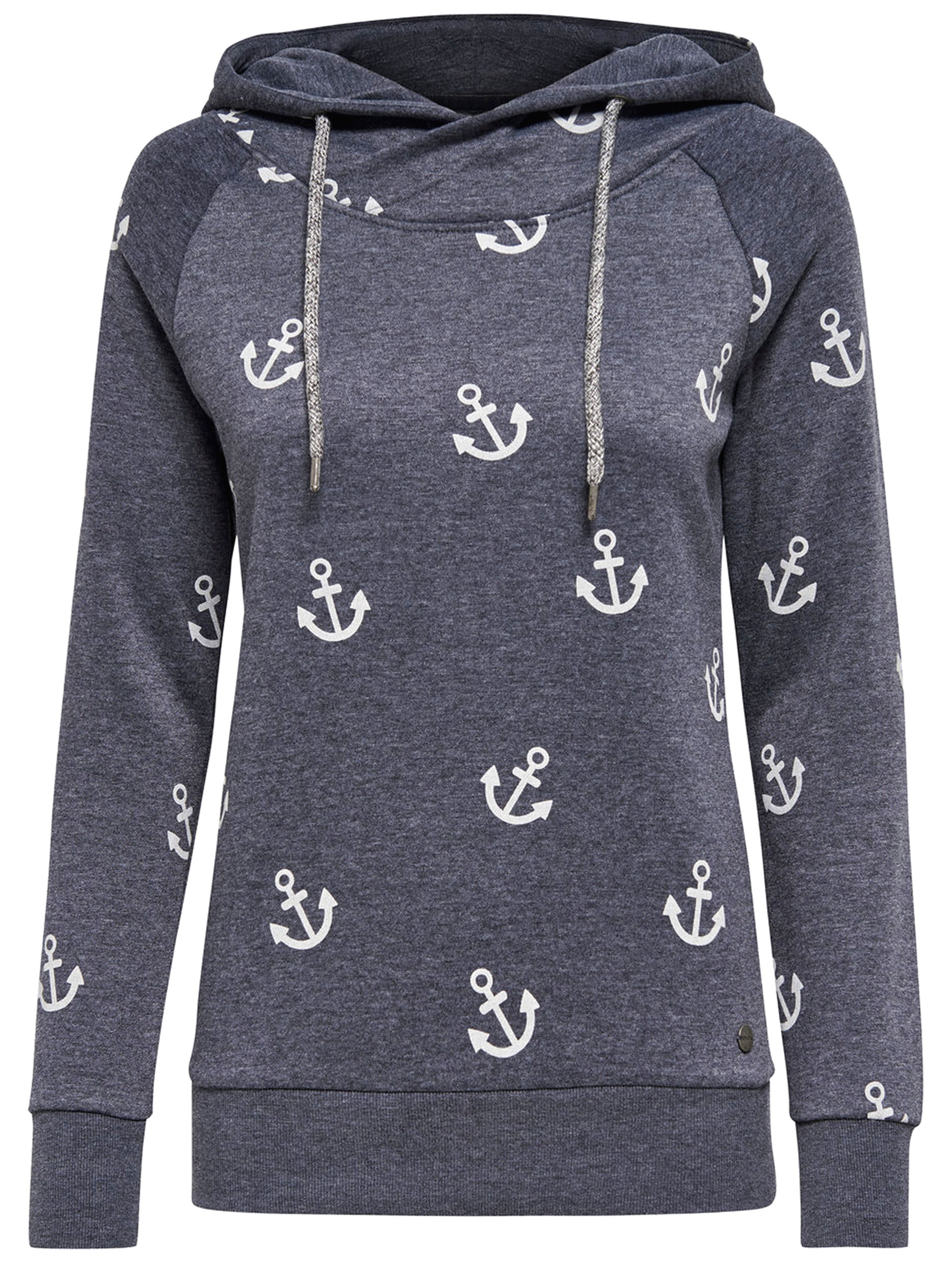 best sneakers 3937a 0d2b7 ONLY Damen Sweatshirt Pullover onlLISA NEW ANCHOR SWEAT Anker Hoodie Kapuze