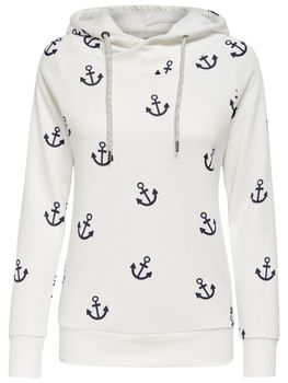 ONLY Damen Sweatshirt Pullover onlLISA NEW ANCHOR SWEAT Anker Hoodie Kapuze – Bild 4