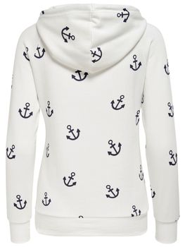 ONLY Damen Sweatshirt Pullover onlLISA NEW ANCHOR SWEAT Anker Hoodie Kapuze – Bild 5
