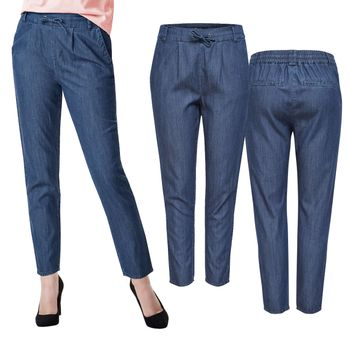 ONLY Damen Chino Stoff Hose onlPOPTRASH DENIM WOVEN LYOCELL MIX PANT dunkelblau