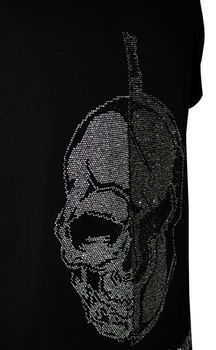 DIS IRATIS NATUS (D.I.N.) Herren T-Shirt Skull Gladiator Helm bling bling schwarz silber – Bild 5