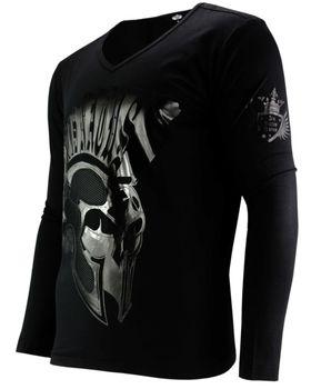 DIS IRATIS NATUS (D.I.N.) Herren Longsleeve Pullover Shirt langarm Gladiator Iro Helm schwarz – Bild 2