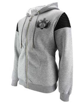 DIS IRATIS NATUS (D.I.N.) Herren Sweatjacke Jacke Zipper Gladiator Kapuze grau Hoodie – Bild 2
