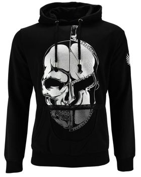 DIS IRATIS NATUS (D.I.N.) Herren Sweatshirt Hoodie Skull Gladiator Helm Kapuze schwarz