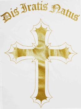 DIS IRATIS NATUS (D.I.N.) Herren T-Shirt Basic Gladiator Helm gold weiß rundhals – Bild 6