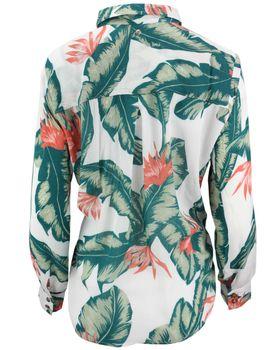 KHUJO Damen Bluse MILA Flower-Print langarm Blumen Hemd Shirt Blusenshirt – Bild 3
