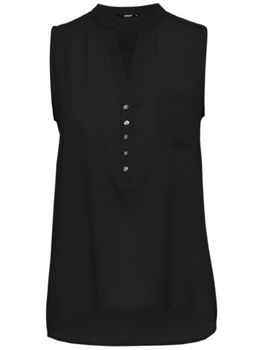 ONLY Damen Bluse Top onlNOVA S/L PLACKET SHIRT SOLID WVN Tunika ärmellos – Bild 5