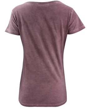 COCCARA Damen T-Shirt Aleshia Vogel Kolibri Pailletten Top grün lila – Bild 3