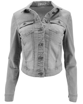 ONLY Damen Denim Jeansjacke Jacke WESTA GREY DENIM JACKET PIM 121147 grau NOOS – Bild 3