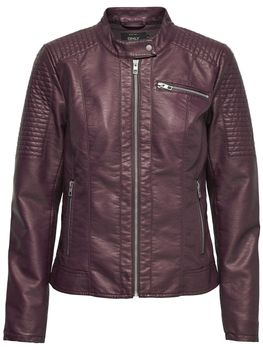 ONLY Damen Lederjacke Jacke READY FAUX LEATHER JACKET PU Biker – Bild 4