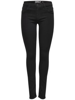 ONLY Damen Jeans Leggings onlRAIN REG SKINNY CRY 6060 Black Denim