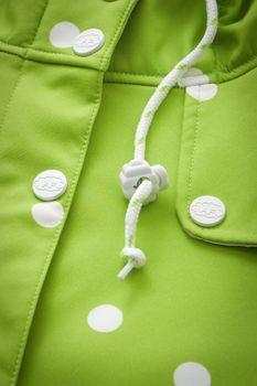 AMUNDSENS FJELL Damen Softshell-Jacke Mantel FRIDA Parka Kurzmantel Punkte grün – Bild 6