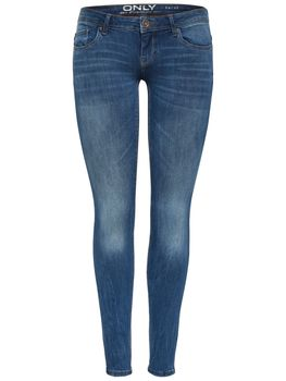 ONLY Damen Jeans onlCORAL SL SK SOO1772A NOOS skinny superlow medium blue