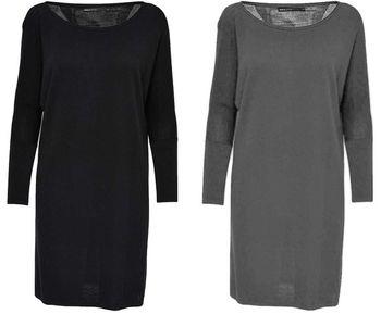 ONLY Damen Strickkleid onlPOLLY 7/8 DRESS Strick Long-Pullover kurzer Longpulli