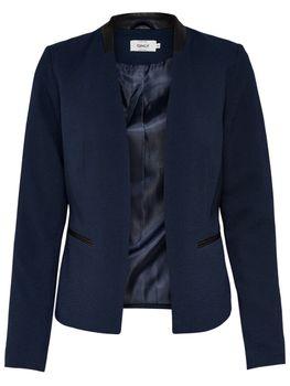 ONLY Damen Blazer Jacke onlCAMILLE BLAZER Stoff Kunstleder schwarz blau – Bild 4
