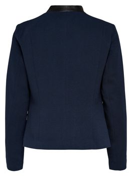 ONLY Damen Blazer Jacke onlCAMILLE BLAZER Stoff Kunstleder schwarz blau – Bild 5