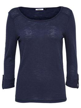 ONLY Damen Pullover Shirt onlJESS 3/4 TOP NOOS Basic Oberteil rot rosa blau – Bild 2