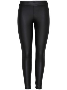 ONLY Damen Hose onlNICE COATED LEGGINGS NOOS Stretch beschichtet schwarz – Bild 1