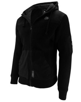 CROSSHATCH Herren Übergangs-Jacke Strickjacke BITEBACK CH HOODED MICRO Fleece Kapuze  – Bild 6