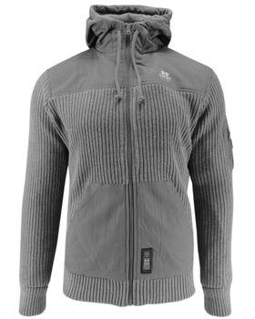 CROSSHATCH Herren Übergangs-Jacke Strickjacke BITEBACK CH HOODED MICRO Fleece Kapuze  – Bild 10