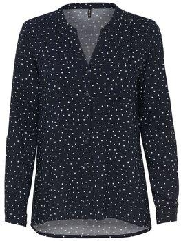ONLY Damen Bluse Hemd Tunika onlFIRST LS POCKET AOP SHIRT NOOS Sterne Punkte – Bild 9