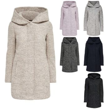 ONLY Damen Wollmantel Mantel Jacke onlINDIE NOMA WOOL COAT Parka Übergang Winter – Bild 1