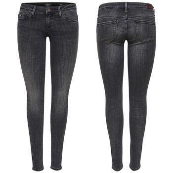 ONLY Damen Jeans Hose onlCORAL SL CRE169061 NOOS super low skinny denim grau 001