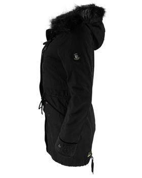 KHUJO Damen Wintermantel Mantel Jacke FREJA Winter Parka schwarz Kapuze Fell – Bild 5