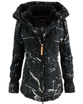 KHUJO Damen Winterjacke Jacke Mantel TWEETY PRIME Winter Parka Kapuze 001