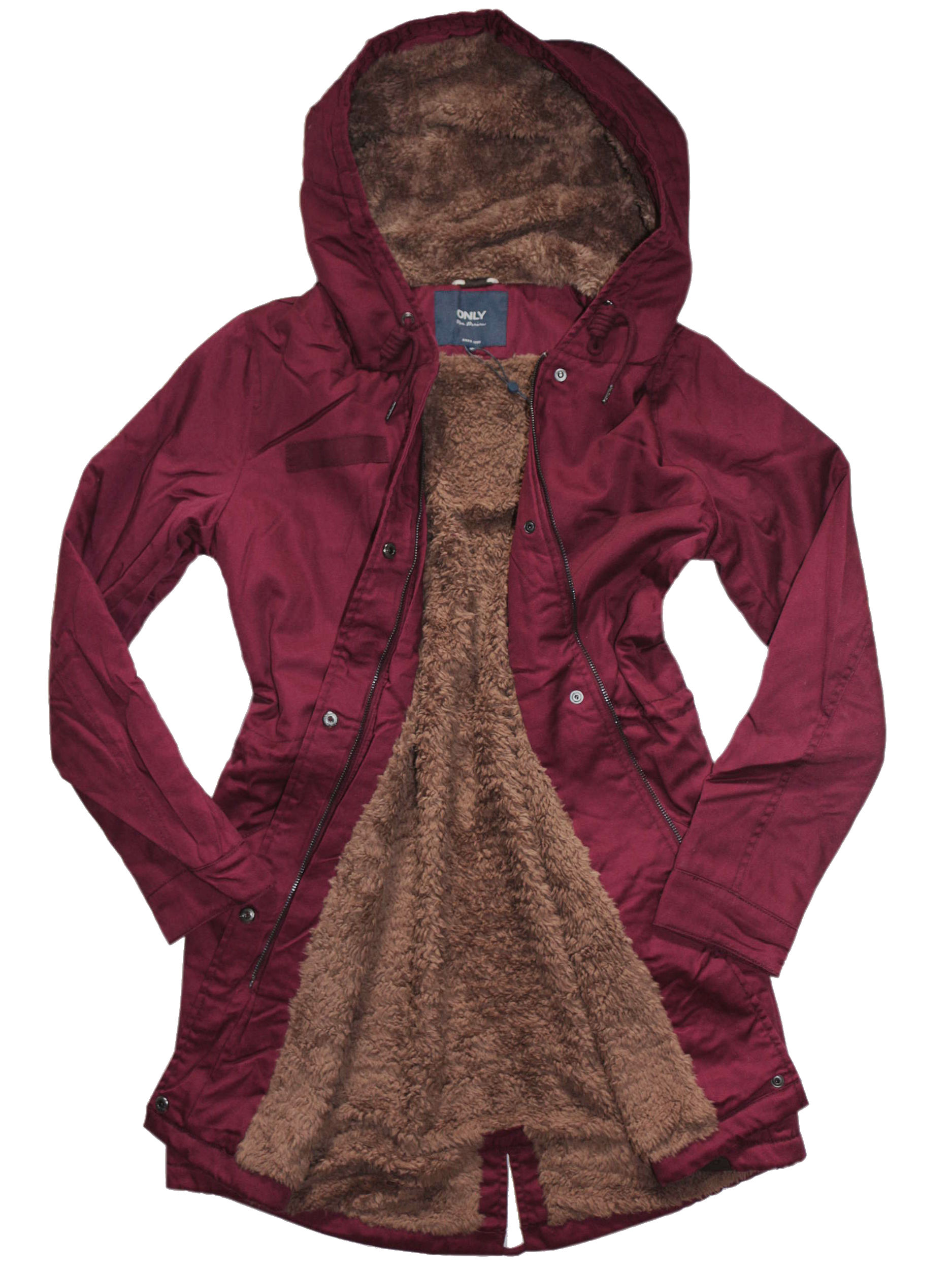 only damen winterjacke jacke mantel onlfavourite fur. Black Bedroom Furniture Sets. Home Design Ideas
