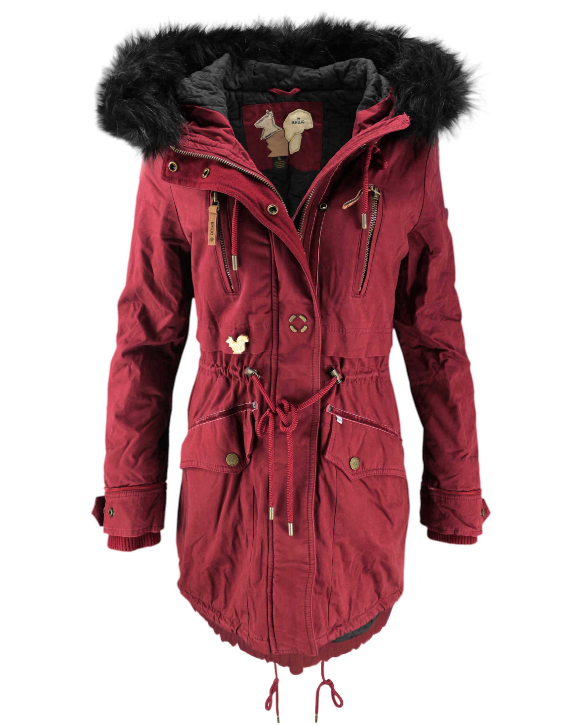 khujo damen wintermantel mantel jacke freja winter parka. Black Bedroom Furniture Sets. Home Design Ideas