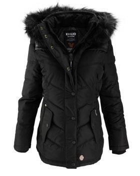KHUJO Damen Winterjacke Jacke Mantel WINSEN 2 II Winter Parka Kapuze Fell