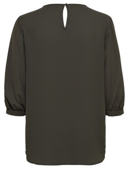 ONLY Damen Bluse Tunika Shirt onlVENICE 3/4 TOP WVN Spitze blau schwarz rosa – Bild 4