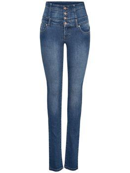 ONLY Damen Jeans onlCORAL CORSAGE SKINNY JEANS REA16989 blau highwaist – Bild 2