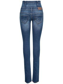 ONLY Damen Jeans onlCORAL CORSAGE SKINNY JEANS REA16989 blau highwaist – Bild 3